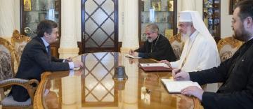 Noul Ambasador al Spaniei la București în vizită de prezentare la Patriarhia Română
