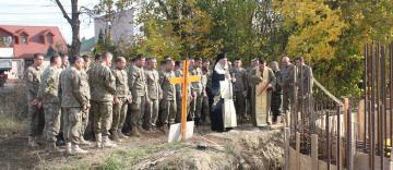 Binecuvântarea lucrărilor la noua biserică din Garnizoana Galaţi