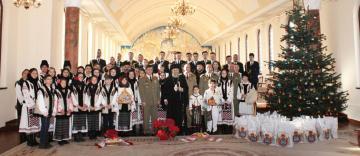 Colindători la Reşedinţa arhiepiscopală din Galaţi