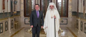 Noul Ambasador al Regatului Unit al Marii Britanii și Irlandei de Nord în vizită de prezentare la Patriarhia Română