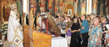 """Procesiune cu Icoana făcătoare de minuni de la Mănăstirea Adam la parohia """"Sfântul Dimitrie și Sfântul Efrem cel Nou"""" din Galați"""