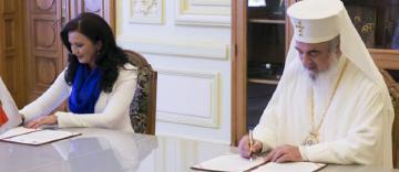 Protocol de colaborare între Patriarhia Română și Ministerul pentru Românii de Pretutindeni