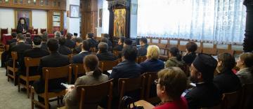 Şedinţa de constituire a Adunării generale a Casei de Ajutor Reciproc din Arhiepiscopia Dunării de Jos