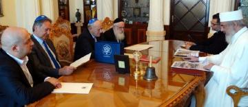 O delegaţie a Federaţiei Comunităţilor Evreieşti din România în vizită la Patriarhia Română