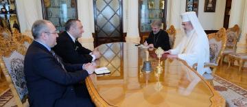Ambasadorul Georgiei la Bucureşti în vizită de rămas bun la Patriarhia Română