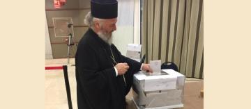 Înaltpreasfințitul Părinte Casian, Arhiepiscopul Dunării de Jos, a votat la alegerile prezidențiale