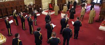 Colindători la Catedrala Arhiepiscopală din Galaţi