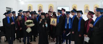 """Cursul festiv al elevilor din anul terminal de la Seminarului Teologic Ortodox """"Sfântul Apostol Andrei"""" din Galaţi"""